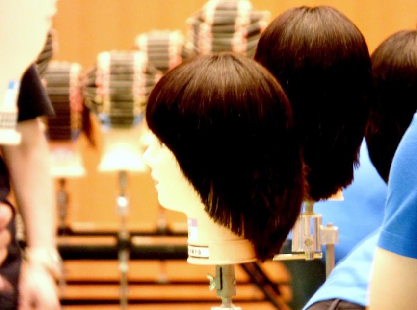 美容学校の授業
